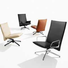 Knoll Pilot Lounge Chairs by Barber Osgerby in Leather