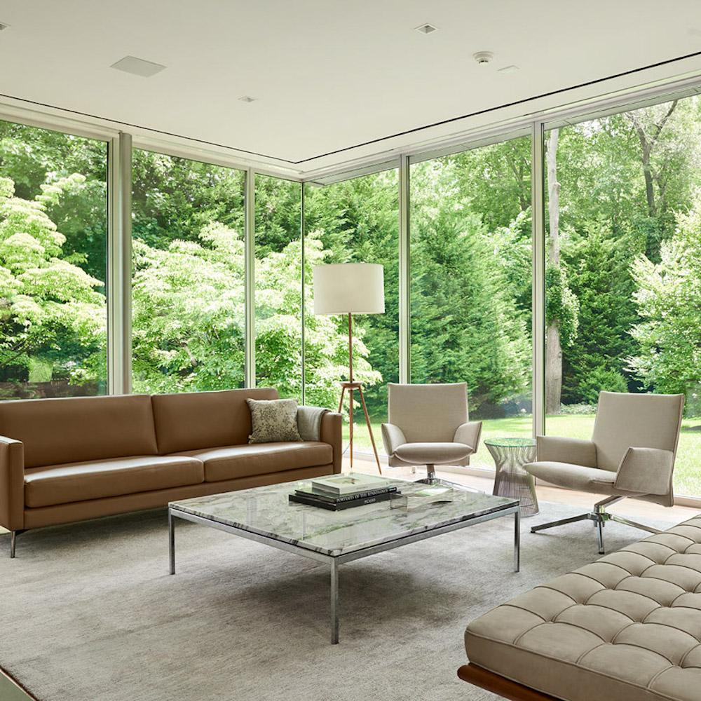 Merveilleux Knoll Pilot Chairs In Room With Barcelona Couch And Florence Knoll Coffee  Table