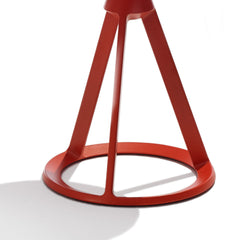 Knoll Barber Osgerby Piton Side Table Coral Red Base Detail