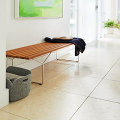 Knoll Bertoia Bench in Entryway