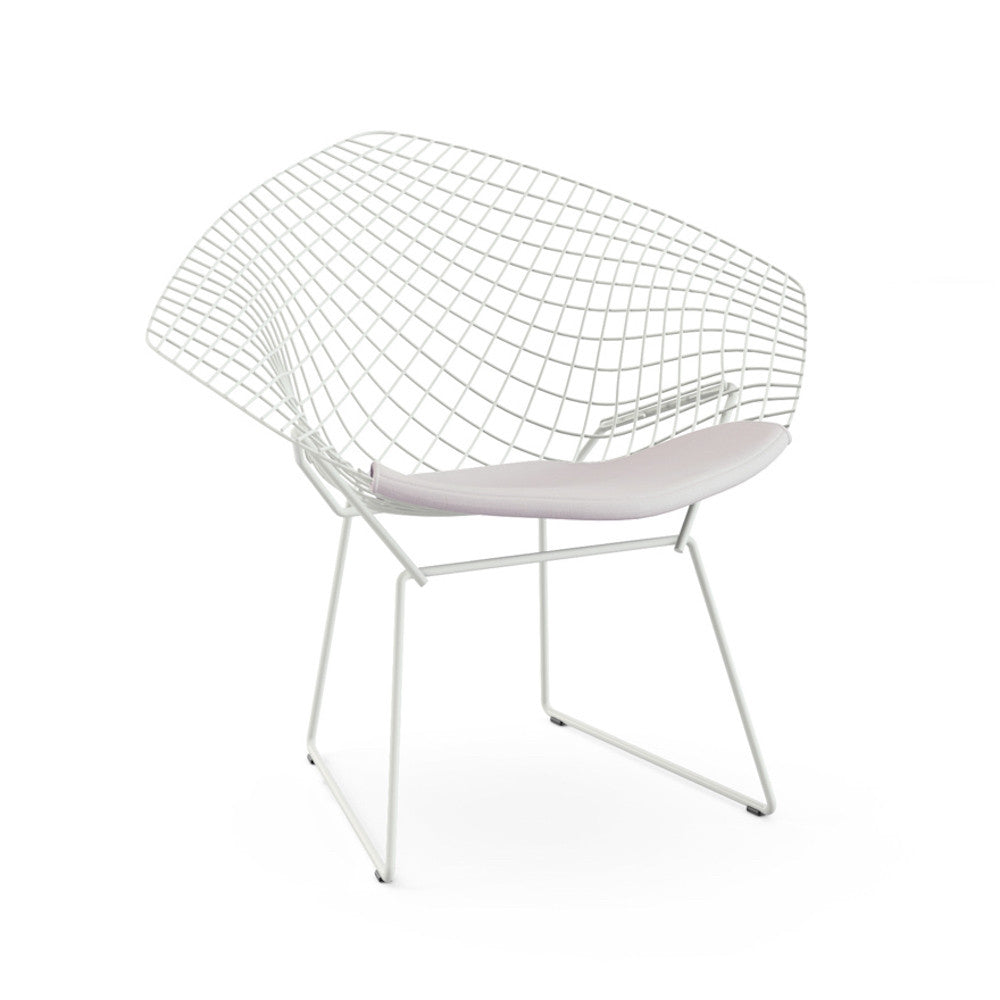 Bertoia diamond chair dimensions - Bertoia Diamond Chair White Frame White Cushion