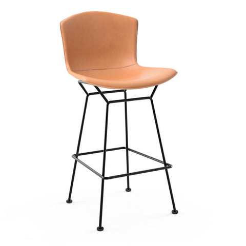 Knoll Bertoia Leather Covered Bar & Counter Stools
