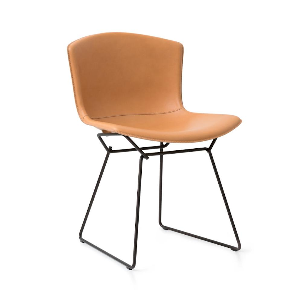 Knoll Bertoia Leather Side Chair