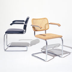 Knoll Cesca Chairs by Marcel Breuer Caned and Upholstered
