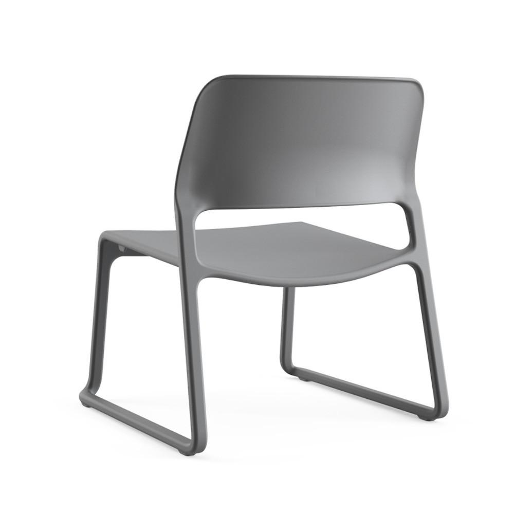 Knoll Chadwick Spark Lounge Chair Dark Grey Back