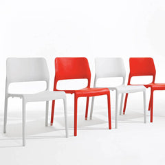 Knol Spark Stacking Chairs Red and White