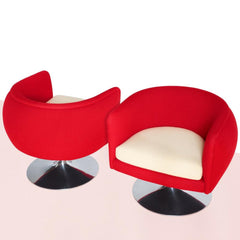 Knoll D'Urso Swivel Chairs in KnollTextiles Stretch Appeal