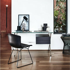 Knoll Albini Desk with Bertoia Shell Chair and Platner Stool