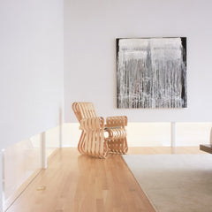 Gehry Power Play Club Chair in Room with Art Knoll