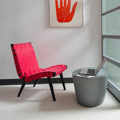 Knoll Risom Lounge Chair in Office with Maya Lin Stone
