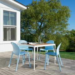 Knoll Jonathan Olivares Aluminum Chairs with Richard Schultz Outdoor Dining Table