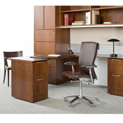 Knoll Leather Life Chair in Executive Office with Autostrada Desk System