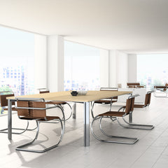 Knoll MR Side Chairs by Mies van der Rohe in Conference Room