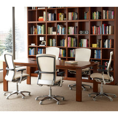 Knoll Life Chairs Cream and Grey in Library