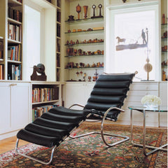 Knoll Mies van der Rohe MR Adjustable Chaise Lounge in Room