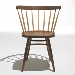 Knoll Nakashima Straight Chair in Walnut and Hickory with Shadow