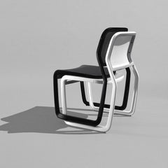Knoll Newson Aluminum Chairs Stacked