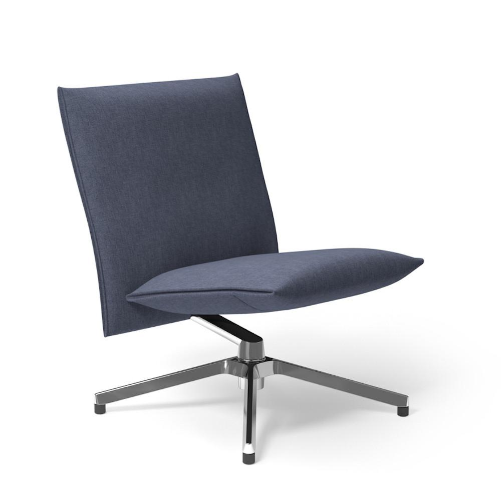 Knoll Pilot Lounge Chair Armless in Delite Catalina Barber and Osgerby