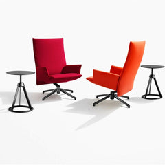 Knoll Pilot Chairs with Piton stools in studio