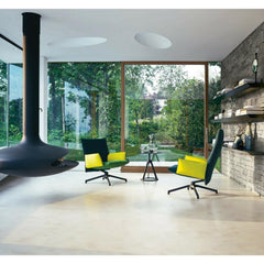 Knoll Barber Osgerby Pilot Chairs Black and Yellow in Modern Living Room