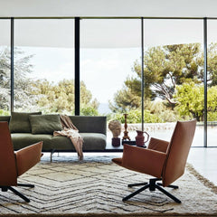 Knoll Pilot Swivel Chairs in Room with Art