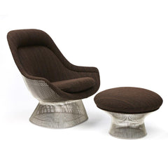 Warren Platner Easy Chair and Ottoman in KnollTextiles Dynamic Musk