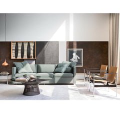 Knoll Pollock Sling Chairs in Room with Platner Coffee Table and Pfister Sofa