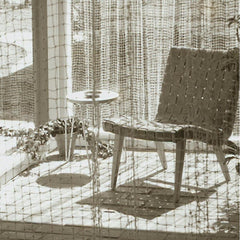 Knoll Risom Chair with Florence Knoll Hairpin Stacking Table from the 1950s