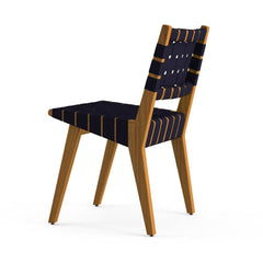 Knoll Risom Teak Outdoor Dining Chair Back