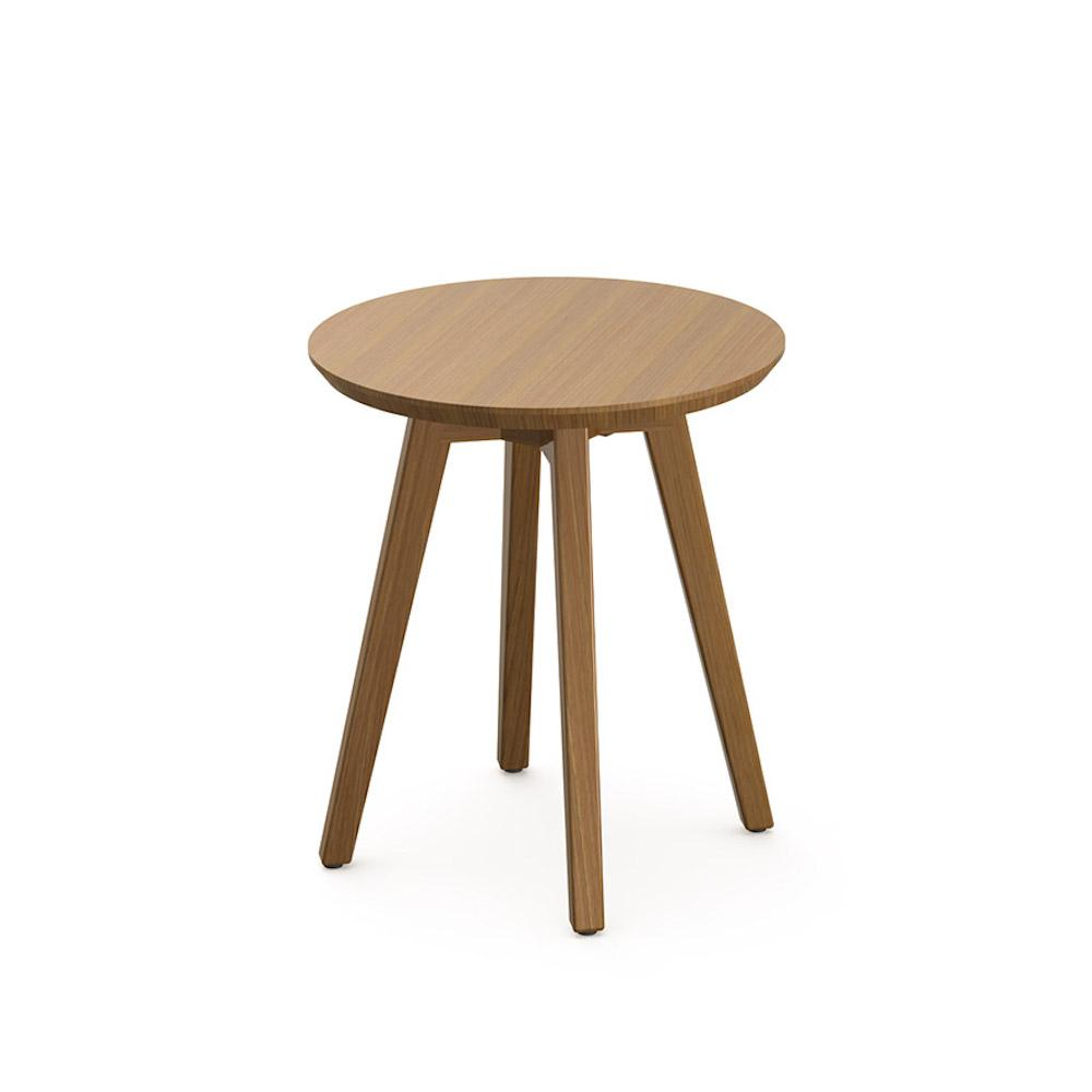Knoll Risom Teak Outdoor Side Table Round
