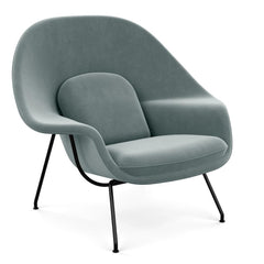 Saarinen Womb Chair in Knoll Velvet Swan