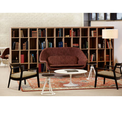 Knoll Saarinen Womb Sette in Library with Krusin Lounge Chairs and Saarinen Coffee table