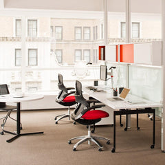 Knoll Sparrow Lamps by Antenna Design in office with Generation Chairs