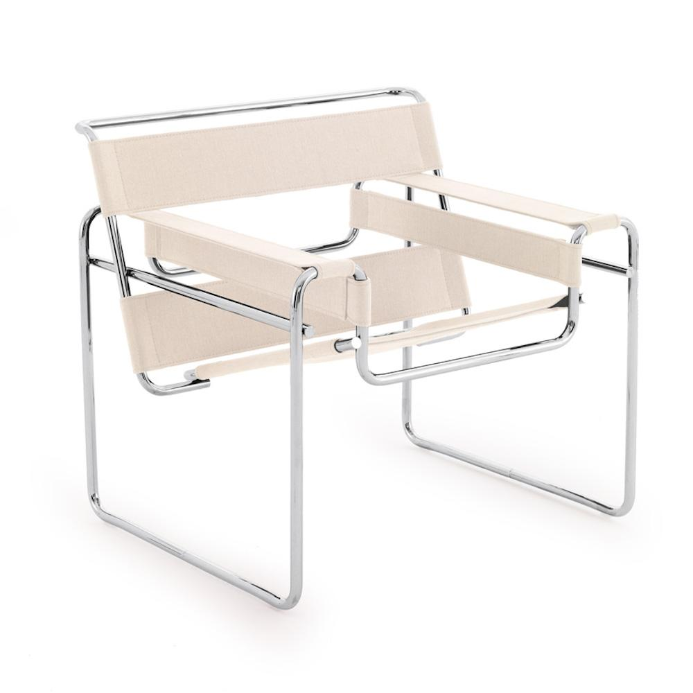 Knoll Breuer Wassily Chair in Canvas