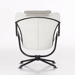 Konstantin Grcic Waver Chair White with Grey Cushions Back Vitra