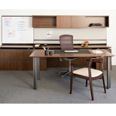 Walnut Krusin Armchair with Life Chair in Office Knoll