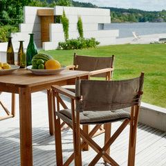 Outside Dining with Skargaarden's Kryss Dining Chairs and Korso Dining Table