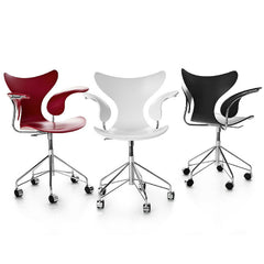 Arne Jacobsen Lily Chairs Swivel Casters Fritz Hansen