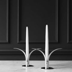 Lily Silver Candlesticks by Ivar Ålenius Björk for Skultuna