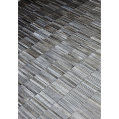 Linie Design Fade Grey Cowhide Rug Diagonal