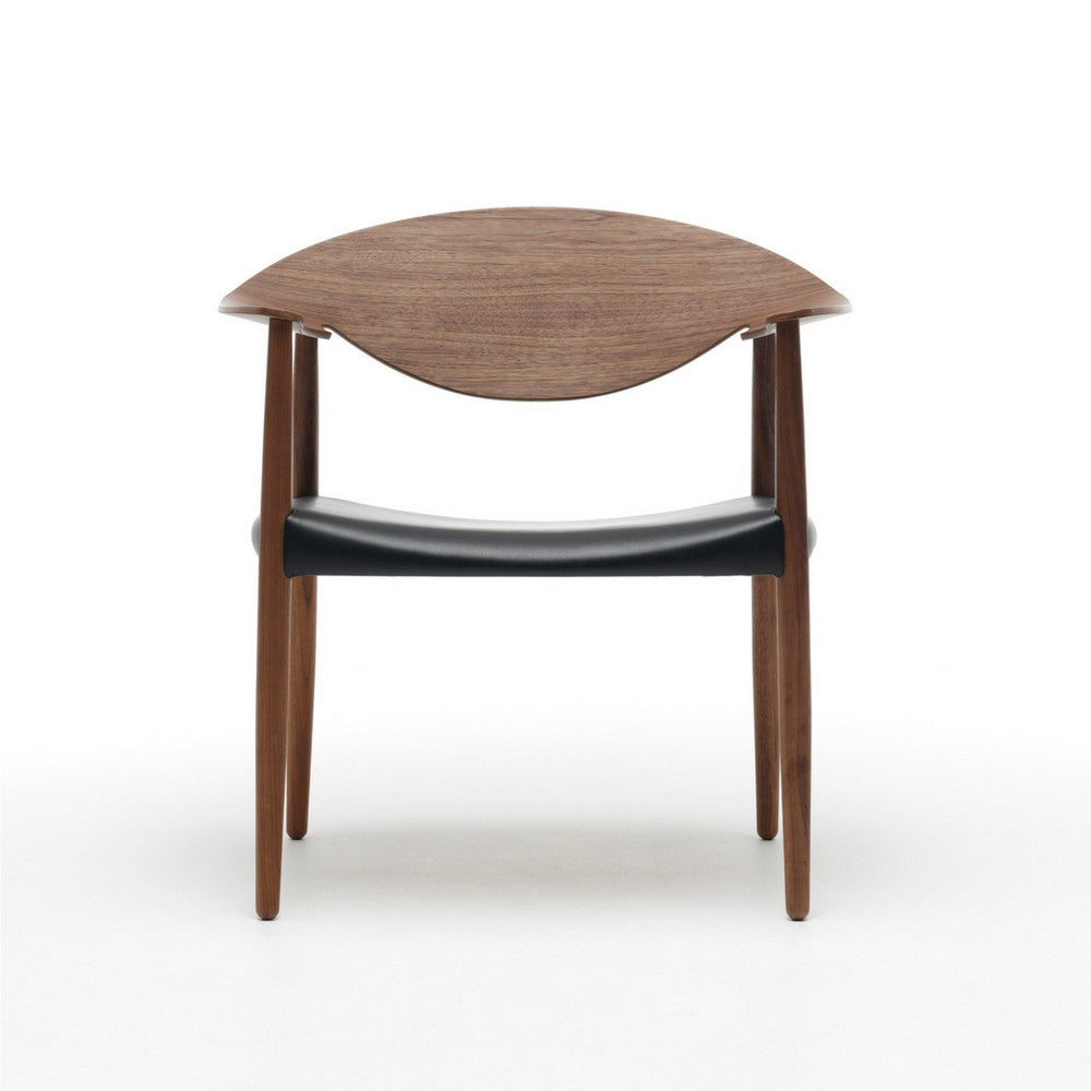 LM92T Metropolitan Chair Walnut and Black Leather Carl Hansen & Son