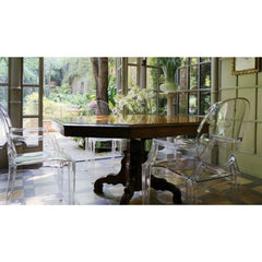Louis Ghost Chair by Philippe Starck for Kartell Dining Table