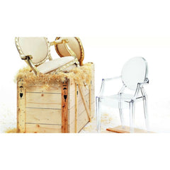 Crystal Louis Ghost Chair by Pilippe Starck for Kartell Uncrated