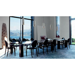 Glossy Black Louis Ghost Chair by Philippe Starck for Kartell Conference Room