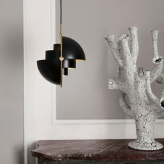 Gubi Multi Lite Pendant Black and Brass in Room