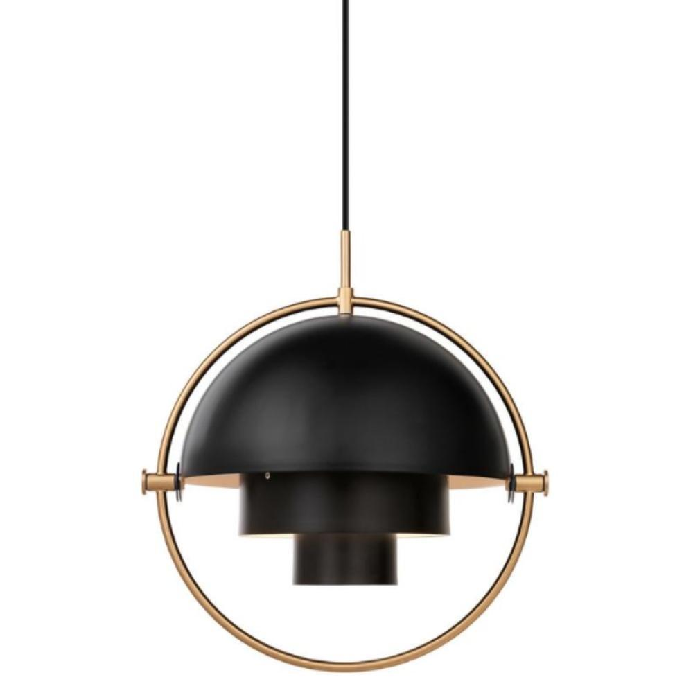 Gubi Multi Lite Pendant Black and Brass
