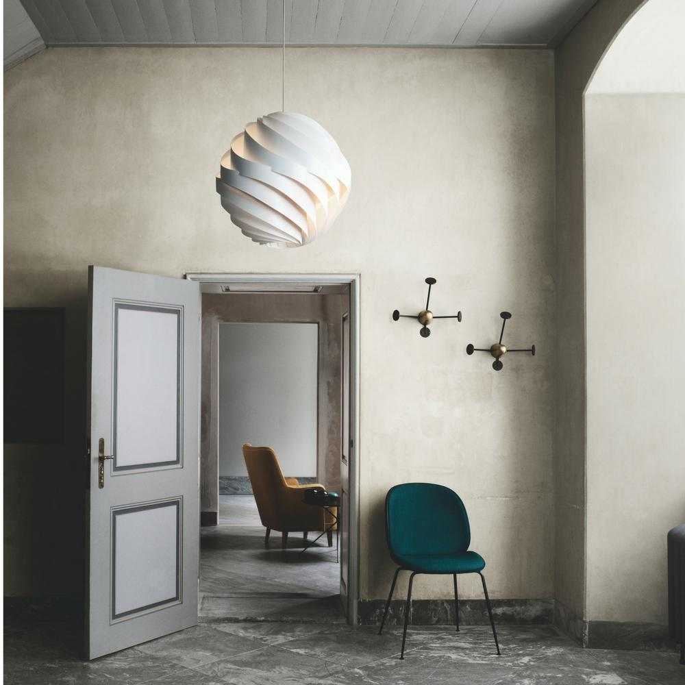 Lovely Large Turbo Pendant By Louis Weisdorf With Beetle Dining Chair And Matégot  Coatracks By GUBI