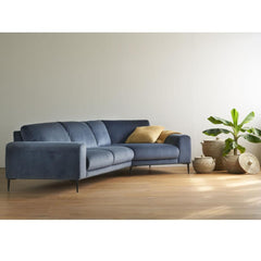 Luonto Joy Loveseat & Corner Sectional Sofa in room.