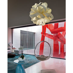 LZF Agatha Ball Pendant Light in Living Room with Lucite Swing