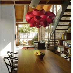 LZF Agatha Pendant Light Red in situ